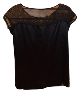 Rebecca Minkoff Holiday Top black with gold sequins