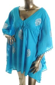 Moda International NWOT Victoria's Secret Moda International Swim CoverUp Blue XS