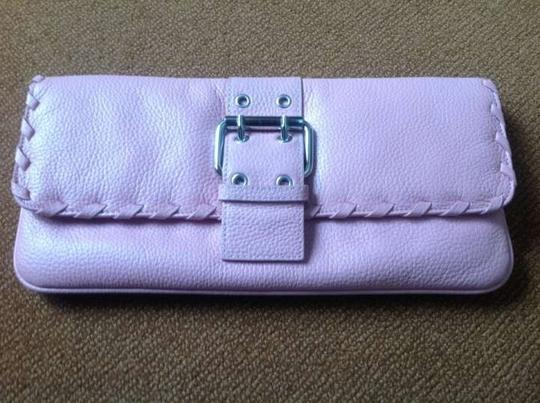 Preload https://item5.tradesy.com/images/bcbgmaxazria-with-removable-strapdetailed-with-braidbuckle-snap-closure-pink-leather-clutch-133164-0-0.jpg?width=440&height=440