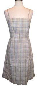 J.Crew short dress Gray Tans Plaid Multi Color J. Crew Dess Size 6 on Tradesy
