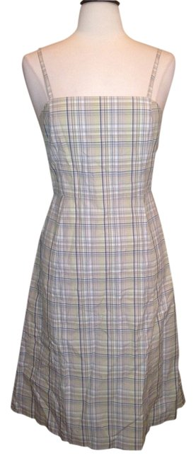 J.Crew short dress Gray Tans Plaid Multi Color Size 6 on Tradesy