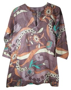 Condemned to Be Free Print Cotton Floral Tory Burch Tunic