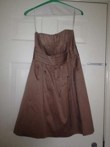 David's Bridal Latte Shell Is Cotton Lining Is Polyester 83312 Casual Bridesmaid/Mob Dress Size 12 (L)