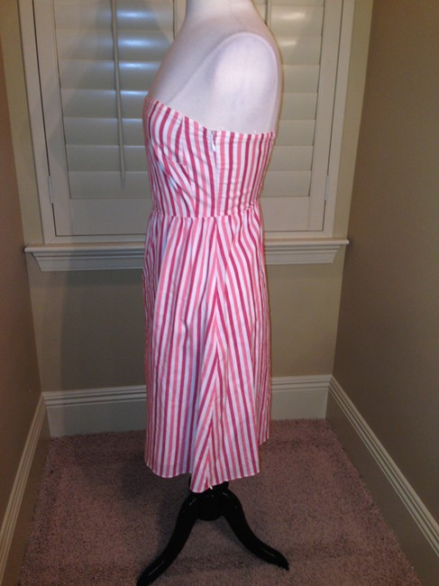 J.Crew short dress Pinks Corals White Strapless Size P2 on Tradesy