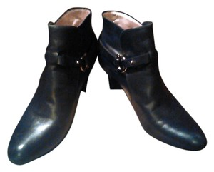 Salvatore Ferragamo Leather Ankle Black Boots