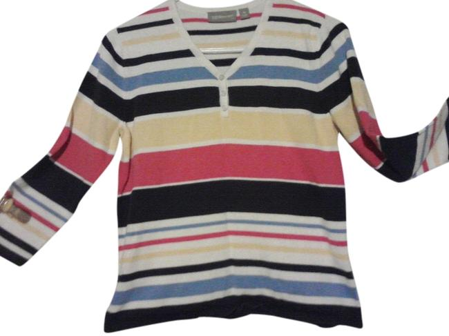 Preload https://item1.tradesy.com/images/croft-and-barrow-multi-striped-blouse-size-petite-6-s-1331945-0-0.jpg?width=400&height=650