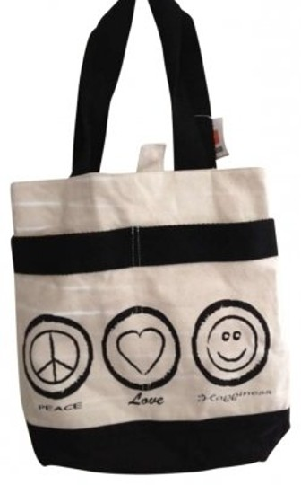 Preload https://item1.tradesy.com/images/black-rivet-peace-love-happiness-canvas-tote-133195-0-0.jpg?width=440&height=440