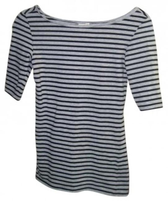 Preload https://item3.tradesy.com/images/14th-and-union-gray-and-black-greyblack-striped-boatneck-longer-in-length-tee-shirt-size-2-xs-133202-0-0.jpg?width=400&height=650