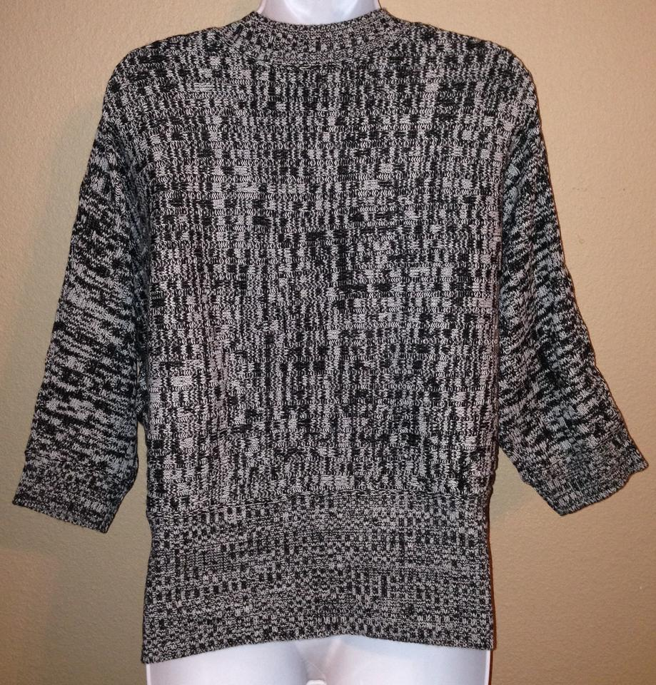 Sweaters Forever 21 Black White Cardigan Button Up Sweater Size Large L Women's Clothing