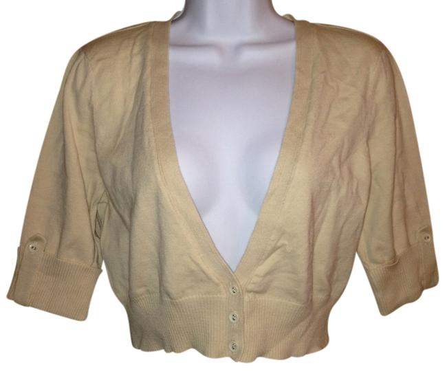 Charlotte Russe Crop Cropped Sweater Beige Xl Xlarge Extra Large Cardigan