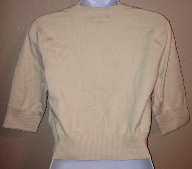 Charlotte Russe Cropped Sweater Beige Xlarge Extra Large Cardigan