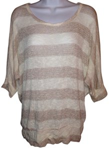 Charlotte Russe Striped Stripes Metallic Xl Xlarge Extra Large Sweater