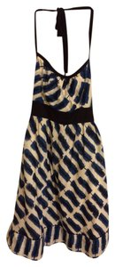 Maeve short dress Black/blue/cream on Tradesy