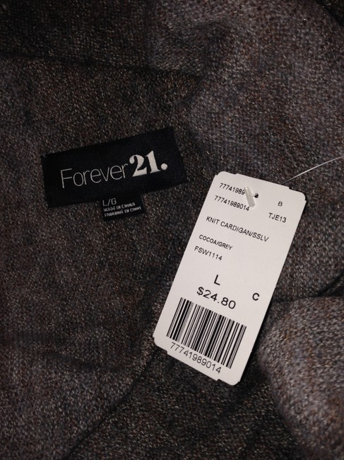 Forever 21 F Knit Sweater Large L Cardigan