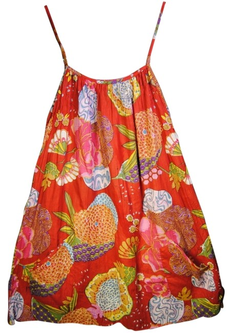 Preload https://item5.tradesy.com/images/red-floral-print-pocketed-swing-mini-short-casual-dress-size-os-one-size-13321774-0-1.jpg?width=400&height=650
