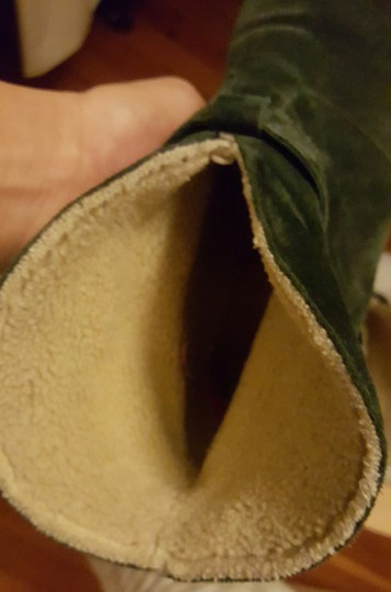 Madewell Ankle Sherpa Green Suede Boots