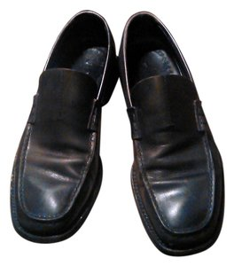 Prada Leather Loafers Black Flats