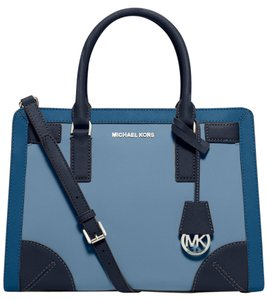 Michael Kors Satchel in Pale Blue/Steel Blue/Navy