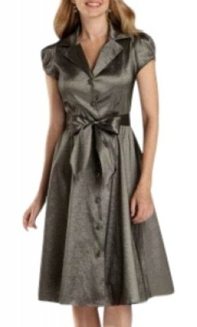 Preload https://img-static.tradesy.com/item/13322/liz-claiborne-grey-knee-length-night-out-dress-size-24-plus-2x-0-0-650-650.jpg