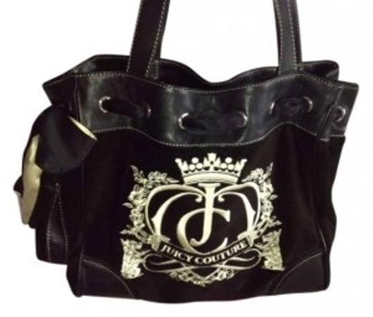 Preload https://item4.tradesy.com/images/juicy-couture-daydreamer-blackbrowncream-velour-tote-133233-0-0.jpg?width=440&height=440