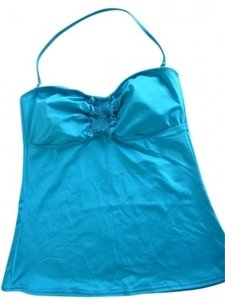 Kenneth Cole Kenneth Cole turquoise tubini top w/removable cups New w/tags!