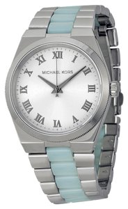 Michael Kors Blue Chambray Silver tone Stainless Steel Designer Casual Ladies Watch