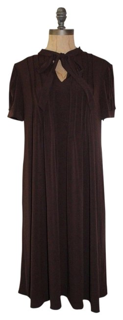 Preload https://item3.tradesy.com/images/london-times-brown-above-knee-workoffice-dress-size-10-m-13323877-0-2.jpg?width=400&height=650