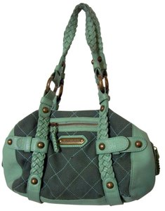 Isabella Fiore Brass Hardware Leather Hobo Bag