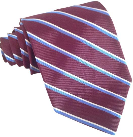Preload https://item4.tradesy.com/images/brooks-brothers-dark-red-with-blue-and-white-stripes-mens-silk-tie-13325383-0-1.jpg?width=440&height=440