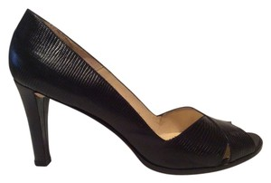 Ralph Lauren Open Toe Black Pumps