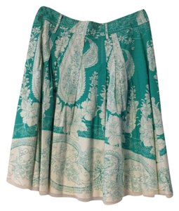 peace of us Skirt Green And Cream