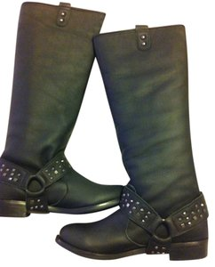All Black Leather Black Boots