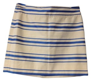 J.Crew Skirt Blue And White