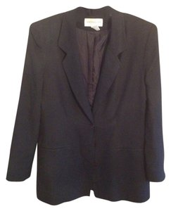 Jones New York Jacket 100% Silk Navy Blazer