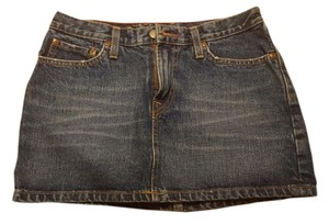 Lucky Brand Mini Dungarees Mini Skirt Denim Blue