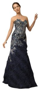 Jovani Strappy Beaded Embellished Strapless Evening Dress