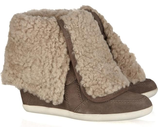 Item - Taupe with Fur Brizz Sneakers Size US 6 Regular (M, B)