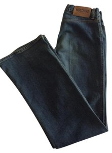 Moschino Trouser/Wide Leg Jeans-Dark Rinse