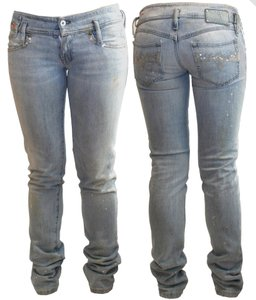 Diesel Matic 71r Distressed 26 Skinny Jeans-Light Wash
