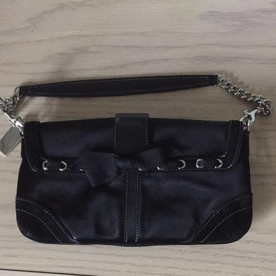 Coach Black Madison Evening Bag With Crystals