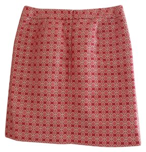 Halogen Gold Metallic Printed Skirt Coral