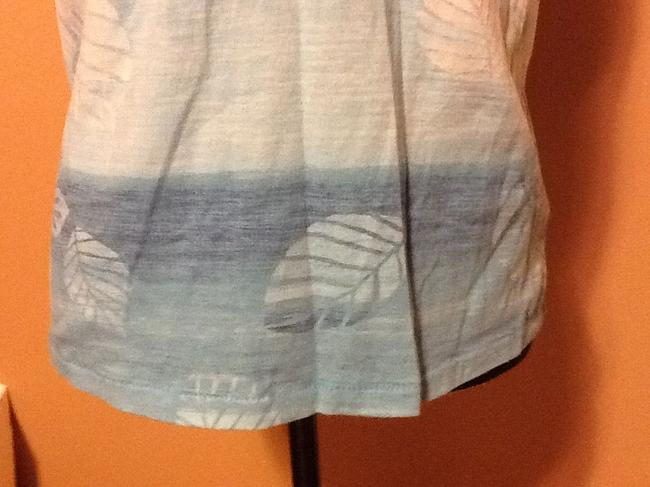 Columbia Sportswear Company Sleeveless Ombre Comfortable Casual Leaves T Shirt Light Turquoise