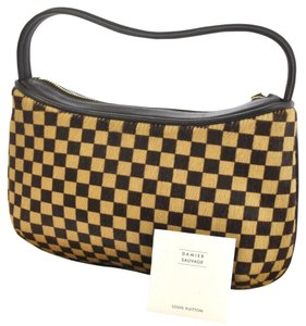 Louis Vuitton Damier Sauvage Tigre Gently Used Sauvage Calf Hair Preowned Damier Shoulder Bag
