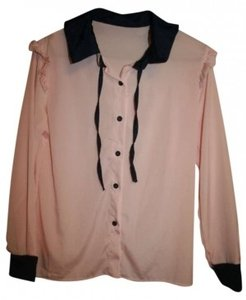 uxcell Button Down Shirt Pink / Blue