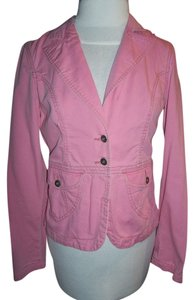 Mossimo Jacket Button Down Shirt Light Rose