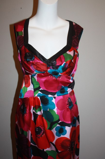 Nanette Lepore short dress Multi Colorful Flowers Silk Pretty Playfull Sexy Lowcut Statement Happy on Tradesy