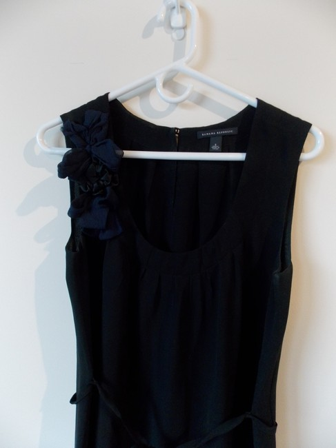 Banana Republic short dress black Flowers Belted on Tradesy
