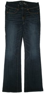 American Eagle Outfitters Classic 5 Pocket Style Boot Cut Jeans-Dark Rinse