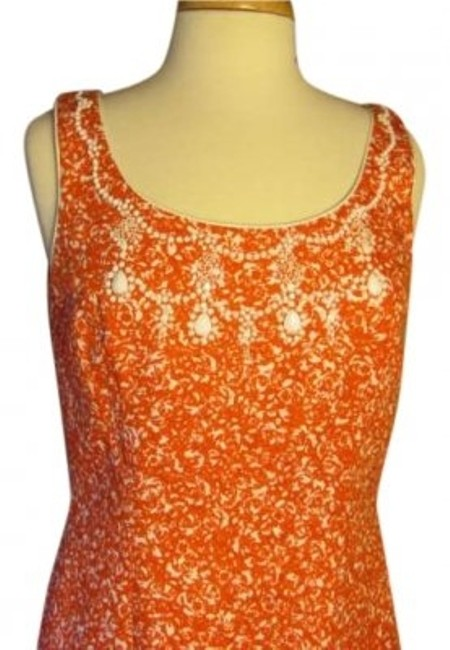 Elie Tahari short dress ORANGE on Tradesy