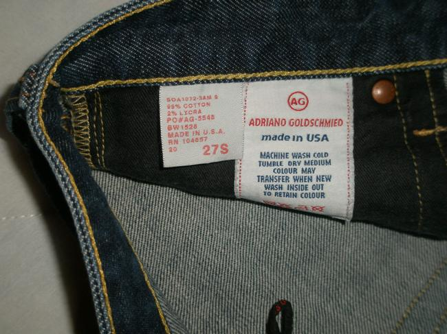 AG Adriano Goldschmied Classic 5 Pocket Style *zip Fly *cotton/Spandex *low Rise Opening *machine Washable *color: 2 Am *embroidered Back Flare Leg Jeans-Dark Rinse